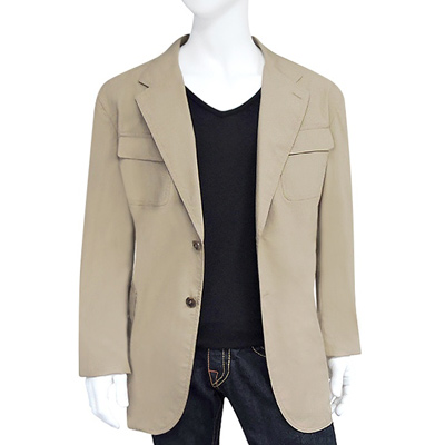 GUCCI 卡其色修身紳士外套【US 54號】