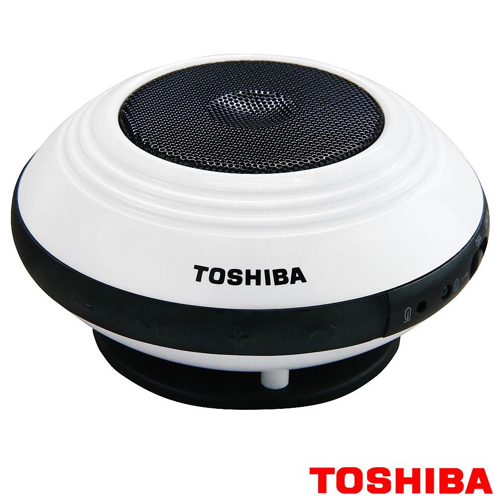 TOSHIBA攜帶型單聲道無線藍牙喇叭TY-SP1TW W