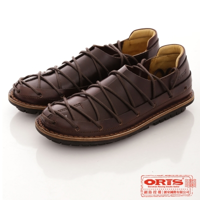 ORIS 男款 美式風格 蟑螂鞋 純牛皮手工休閒鞋~咖21603