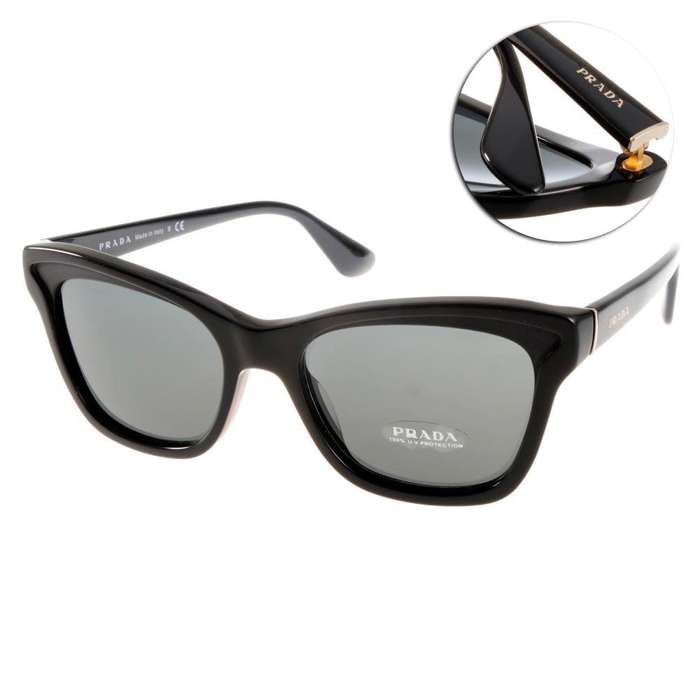 PRADA太陽眼鏡 明星貓眼款/黑#SPR16PA 1AB1A1
