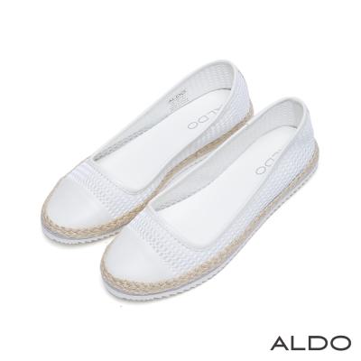 ALDO-悠揚出遊鏤空編織雙色夾心休閒便鞋-氣質白