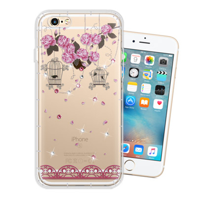 WT iPhone 6s / 6 4.7吋 奧地利水晶彩繪空壓手機殼(璀璨蕾絲)