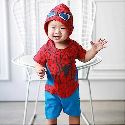 baby童衣 蜘蛛人浮雕式印花短袖連身衣 32004