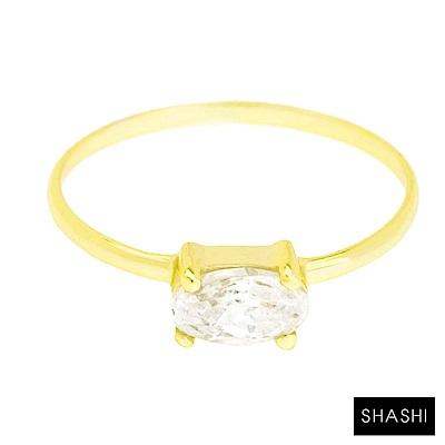 SHASHI 紐約品牌 Oval 橢圓形切割鑲鑽戒指 求婚戒 定情戒 大版