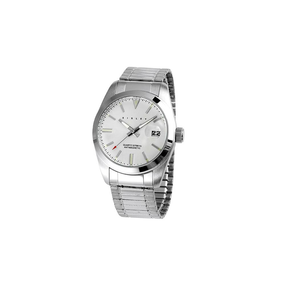 SISLEY 漫爵義思彈性抗磁腕錶 (銀)