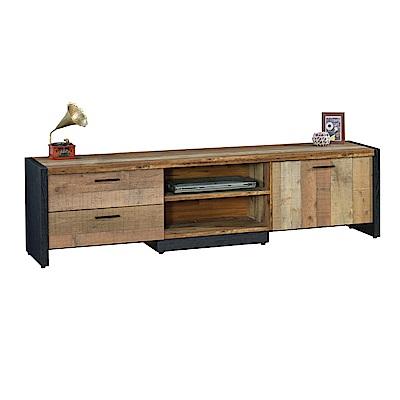 品家居 泰貝莎6尺木紋雙色長櫃/電視櫃-180x40x50cm免組