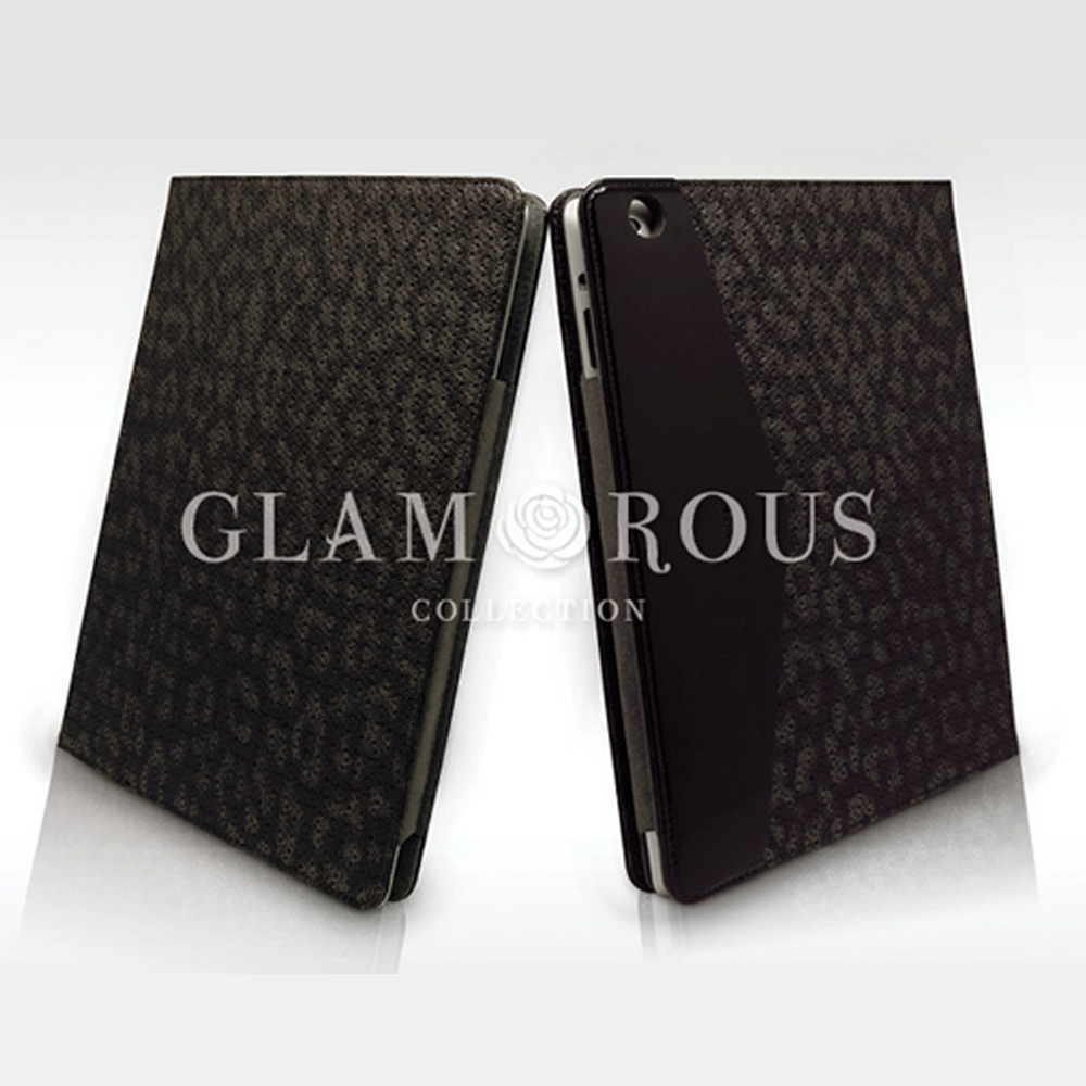 Kajsa Glamourous for new iPad 多功能豹紋皮套