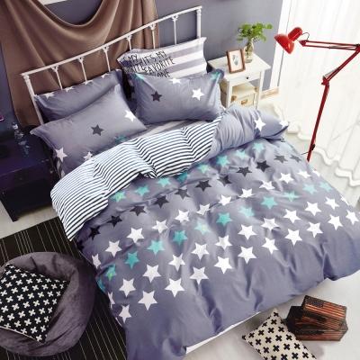 Ania Casa 台灣製 超厚美肌磨毛 - 雙人床包枕套三件組- 星之物語風