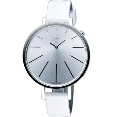 Calvin Klein 光芒系列名媛時尚腕錶-白/41mm
