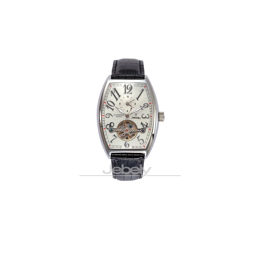 Jebely瑞士機械錶_伯恩相對論系列-白/黑/43×38mm