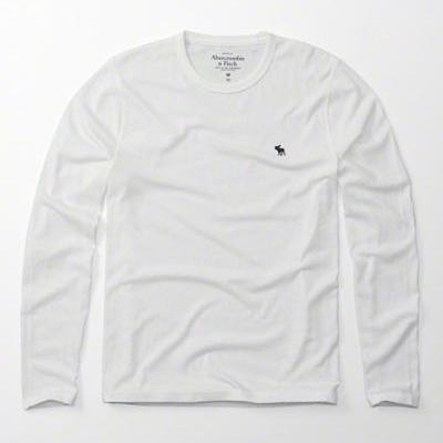 AF a&f Abercrombie & Fitch 長袖 T恤 白色 428