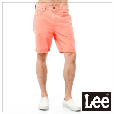 Lee 短褲 素面色褲-男款(亮橘)