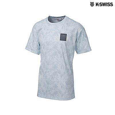 K-Swiss Round Neck T-Shirts印花短袖T恤-男-白