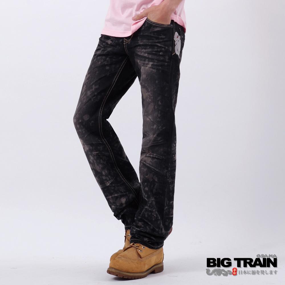 BIG TRAIN-街頭惡童小直筒褲-鐵灰
