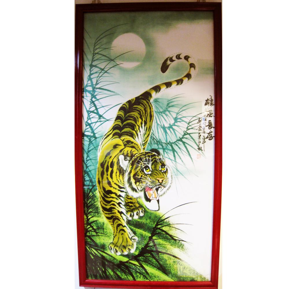 威武吉祥平安的瑞獸掛畫 老虎圖