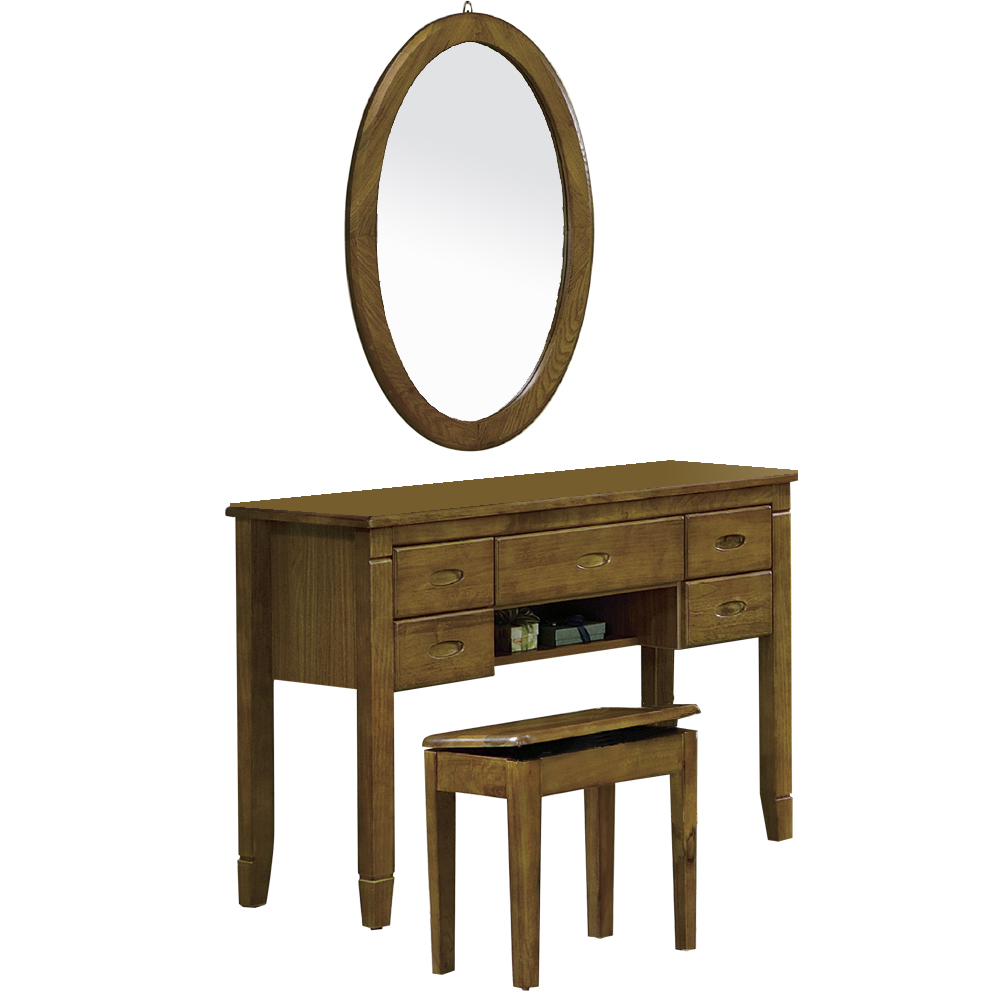 CASA卡莎 巴比倫黃檀實木鏡台(含椅)