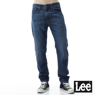 Lee 牛仔褲 731低腰合身小直筒牛仔褲/RG- 男-藍色