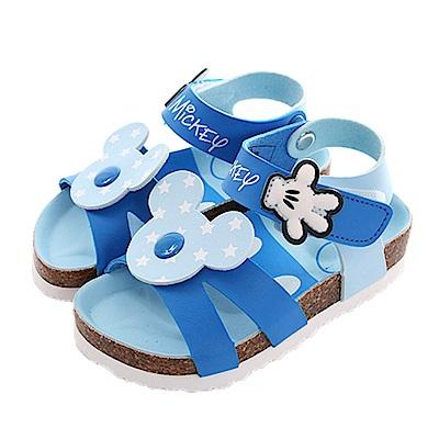 迪士尼米奇魔鬼貼涼鞋 藍 sk0412 魔法Baby