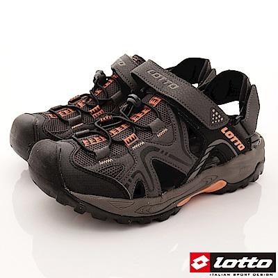 Lotto樂得-排水護趾涼鞋-SI103咖啡(男段)