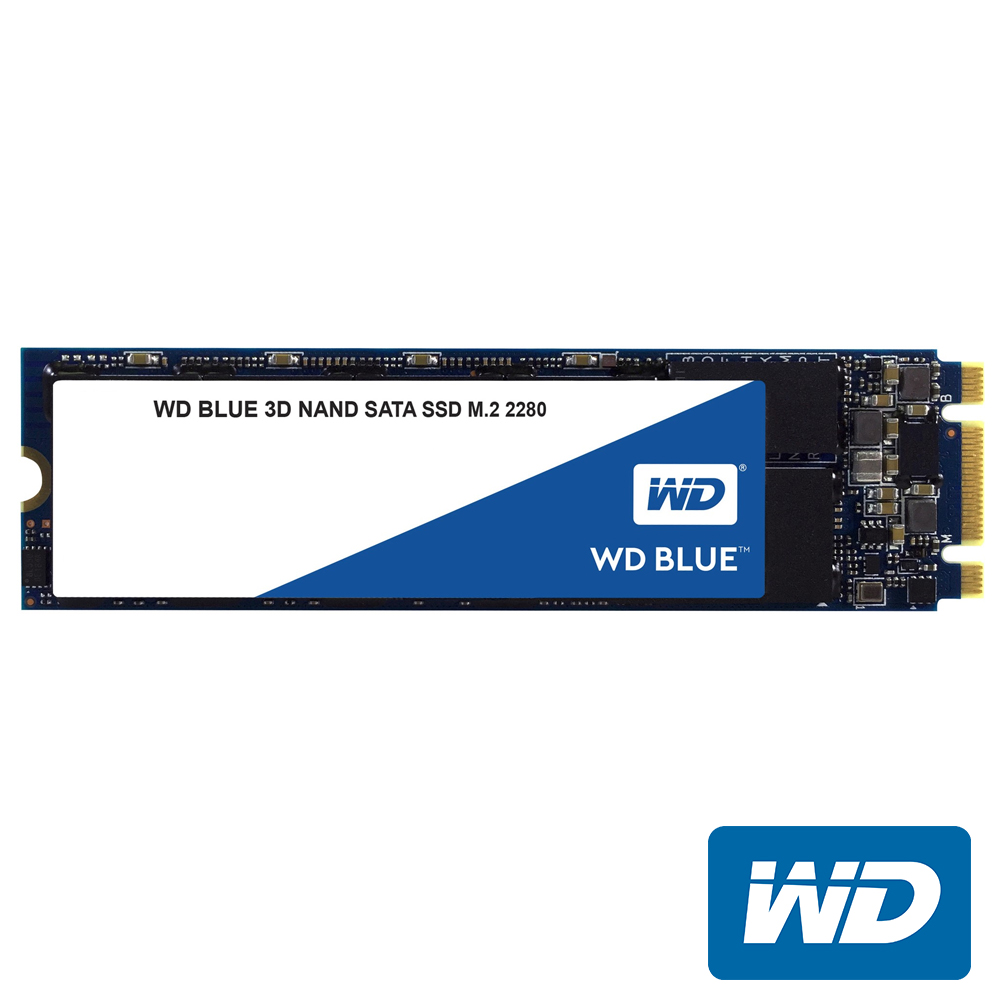 WD 藍標SSD 500GB M.2 2280 SATA 3D NAND固態硬碟