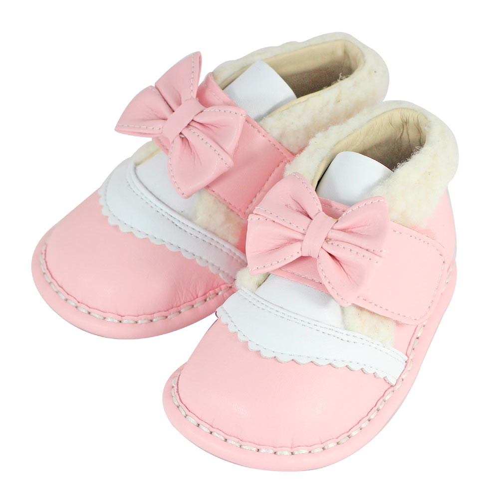 Swan天鵝童鞋-可愛毛毛小短靴1503-粉