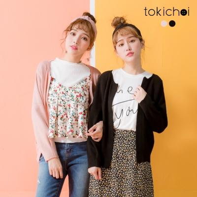 東京著衣 甜美女孩針織外套-S.M(共二色)