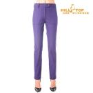【hilltop山頂鳥】女款超撥水彈性長褲H31FK5紫