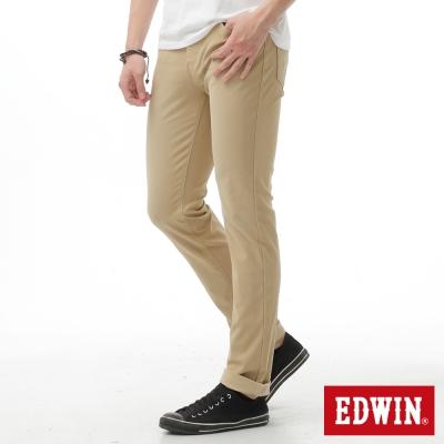 EDWIN 大尺碼AB褲 迦績褲JERSEYS涼感色褲-男-淺卡其