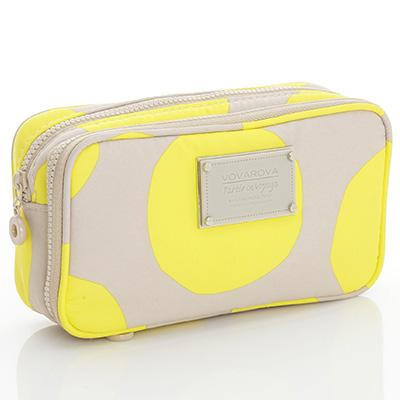 VOVAROVA空氣包-眼妝化妝包-波卡圓點(黃)
