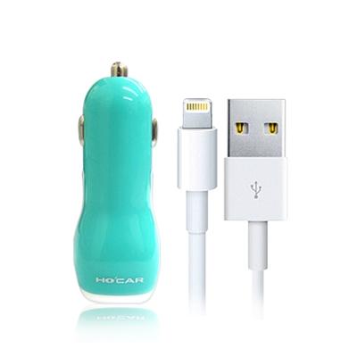 HOCAR iPhone 6 Plus 5S 2A雙USB 車充
