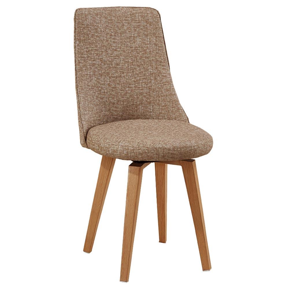 AT HOME - 團圓旋轉咖啡皮餐椅 44x44x88cm