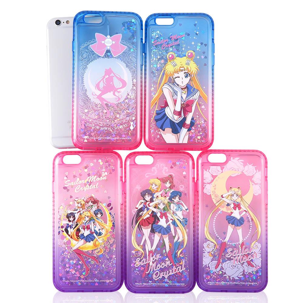 美少女戰士 iPhone 6/6s Plus(5.5吋)閃亮流沙水鑽漸層雙色殼