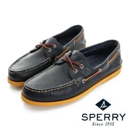 SPERRY 時尚魅力經典牛皮帆船鞋(男)-海軍藍