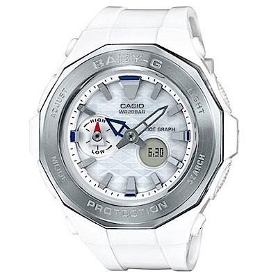 BABY-G 卡西歐海灘豪華露營概念休閒錶(BGA-225-7A)-白/45.5mm