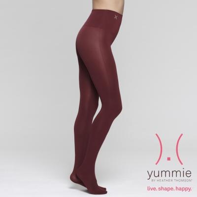 彈性塑型無縫褲襪-酒紅-Brenda-Yummie