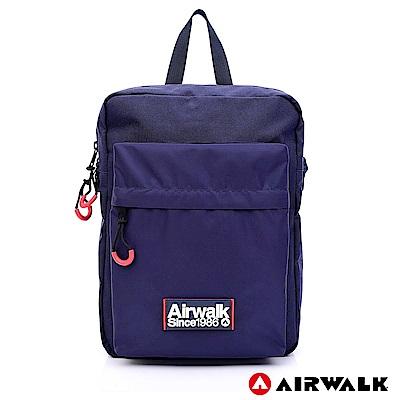 【AIRWALK】簡約慢活休閒側背包-藍色