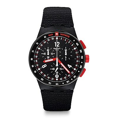 Swatch 就是SWATCH STAND HALL 絕對黑色手錶