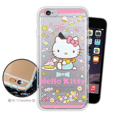 三麗鷗授權正版 凱蒂貓 iPhone 6s/6 4.7吋 空壓氣墊手機殼(糖果K...