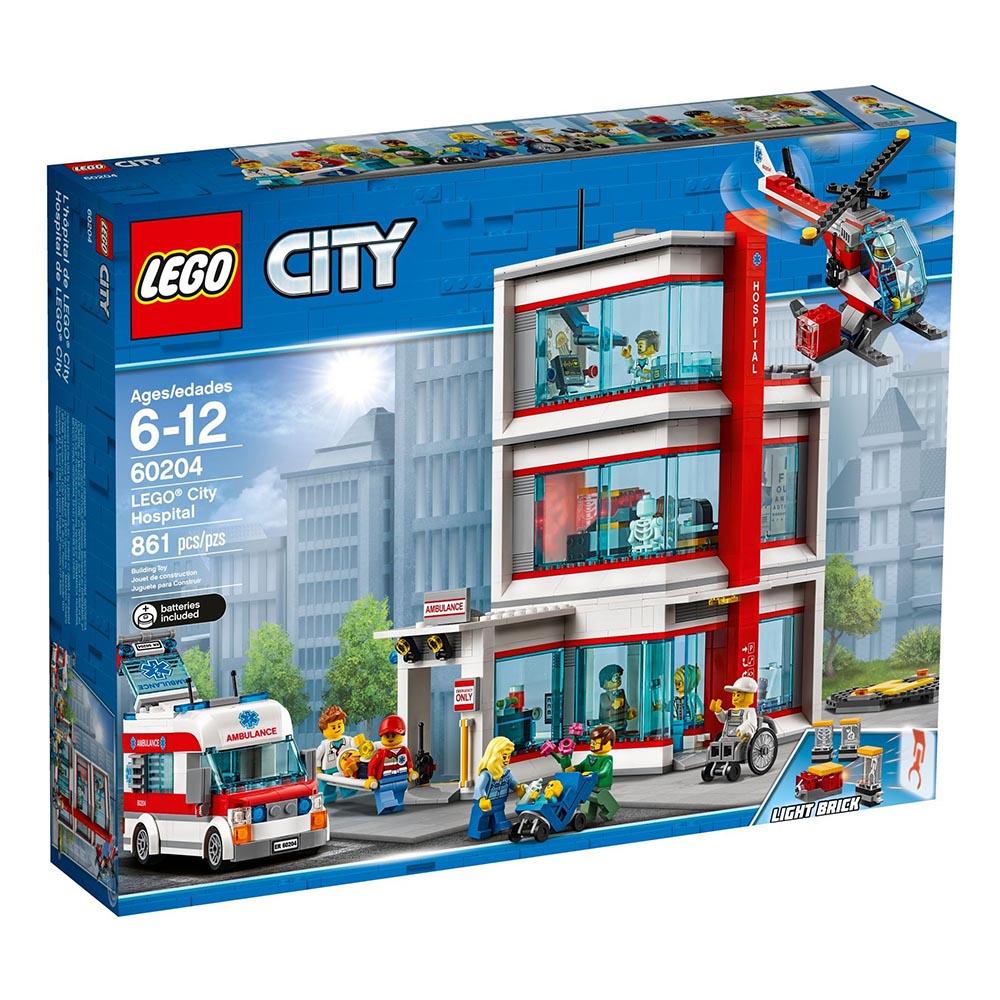 樂高LEGO 城市系列 LT60204 樂高? 城市醫院