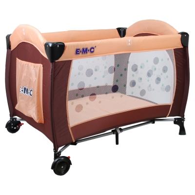 EMC 嬰幼兒安全遊戲床(幸運咖啡)