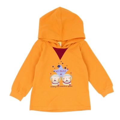 愛的世界-MYBABY-純棉太空狗連帽束袖長袖上衣-2-4歲
