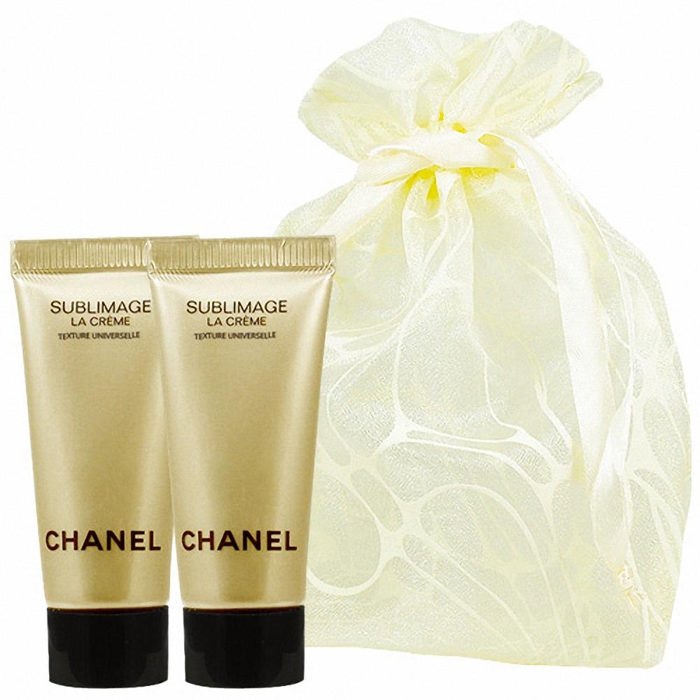 CHANEL 香奈兒 奢華精質賦活乳霜-輕盈版(5ml)2入旅行袋組