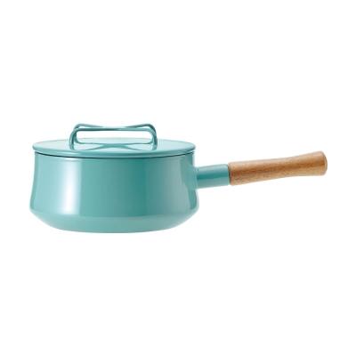 DANSK-琺瑯單耳燉煮鍋-藍綠色