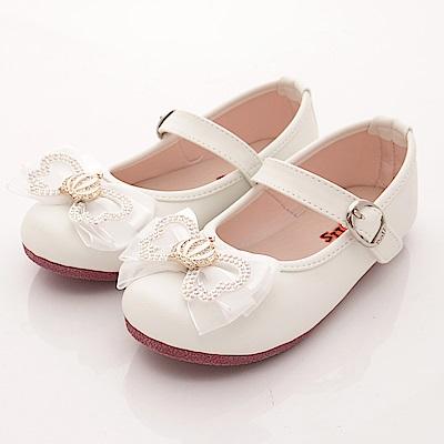 日本娃娃 閃鑽皇冠公主鞋款 5206白(中大童段)