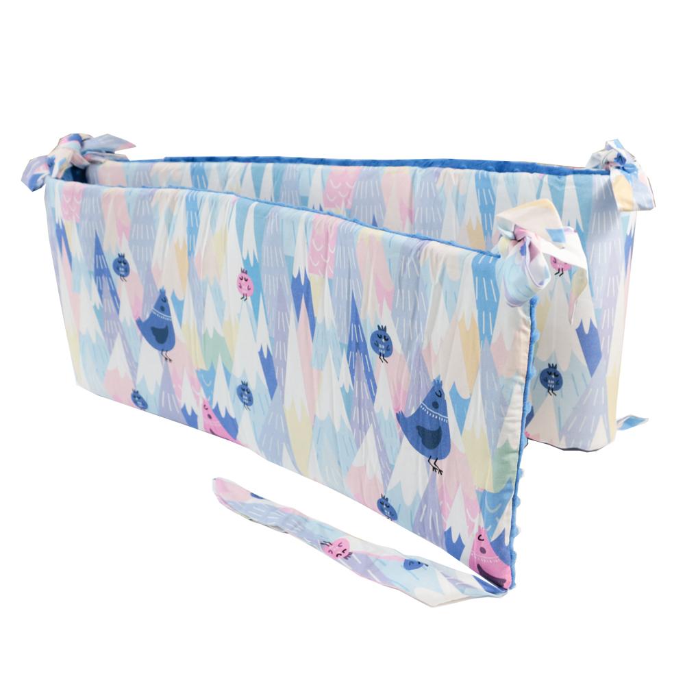 La Millou 拉米洛100%純棉床圍護欄(莓果咕咕雞-加勒比海藍) @ Y!購物