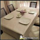 Homemaker-素面金屬桌巾 (長120cmX寬137cm)