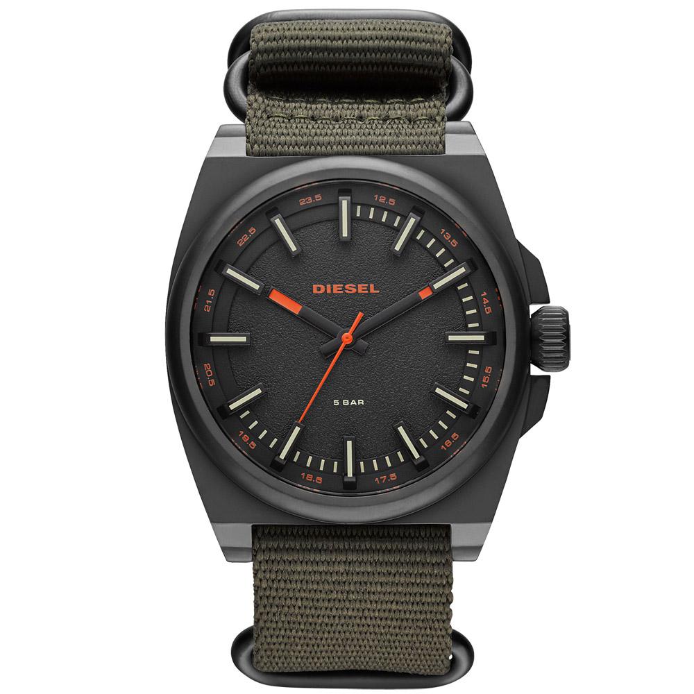DIESEL 都會叢林個性運動腕錶-鐵灰/46mm