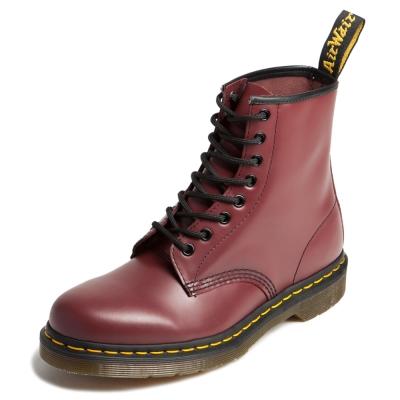 Dr.Martens-經典8孔馬汀靴-男款-櫻桃紅