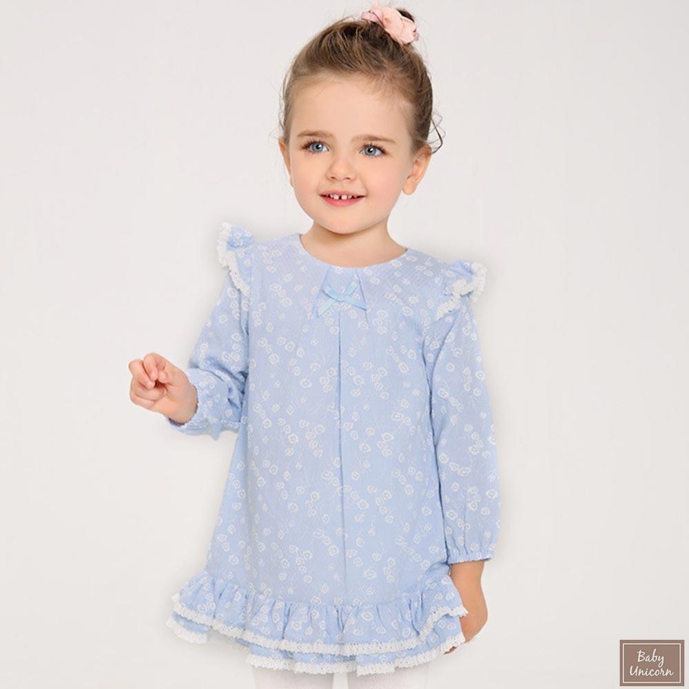 Baby unicorn 水藍長袖洋裝
