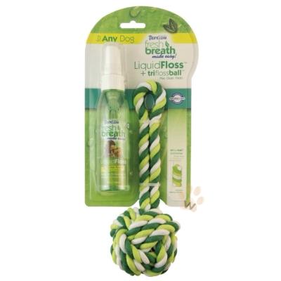 美國Fresh breath『鮮呼吸』潔牙噴霧加牙線球 1入